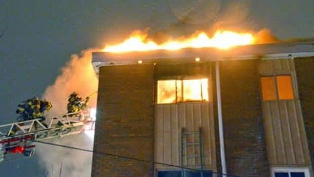 A Moncton apartment fire forced 30 people from their homes early on Friday morning.