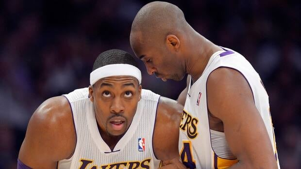 Los Angeles Lakers guard Kobe Bryant, right, and centre Dwight Howard will both be taking part in February's NBA All-Star Game in Houston.