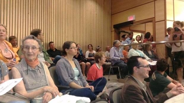 The public gallery of Regina City Council was packed for Monday night's meeting.