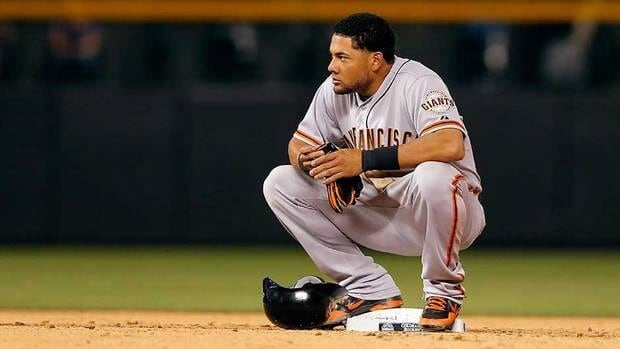 Melky Cabrera missed the final 50 games of the 2012 season with the Giants after he was suspended for a violation of the league's drug policy.