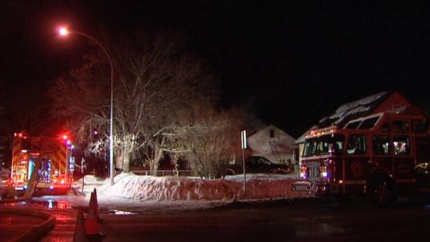 Fire broke out at this home on the 900 block of Robinson St. in Regina Monday night.