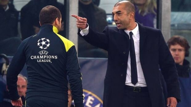 Roberto Di Matteo of Chelsea contests an official's call in Tuesday's 3-0 loss to Juventus.