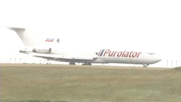 A Purolator plane overshot the runway at the St. John's International Airport on Saturday morning.