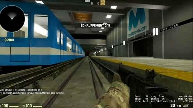 A scene from online first-person shooter game Counter-Strike Global Offensive is set in Montreal's Berri-UQAM metro station.