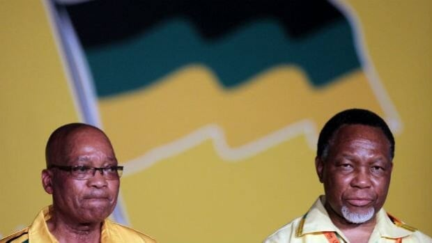South Africa President Jacob Zuma (left), the head of the AN C, and his deputy, Kgalema Motlanthe, who is suddenly challenging Zuma for the leadership of the ruling ANC, and the right to be the presidential candidate in 2014.
