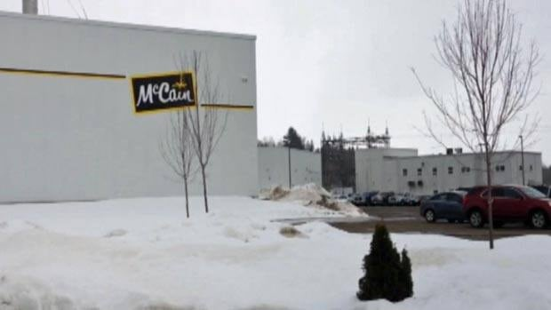 The McCain Foods plants in Grand Falls and Florenceville-Bristol will be converting to natural gas.
