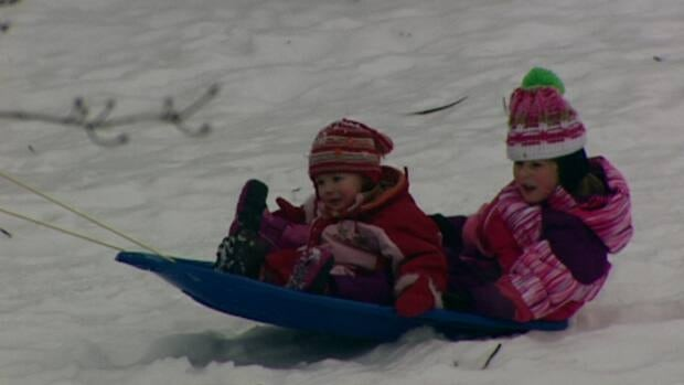 Children around the region were enjoying the new layer of snow - 25 cm of it - that fell on the Ottawa and surrounding areas over the past 24 hours.