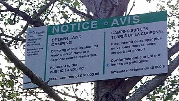 The Ministry of Natural Resources says people need to be aware of the rules around camping on Crown land.