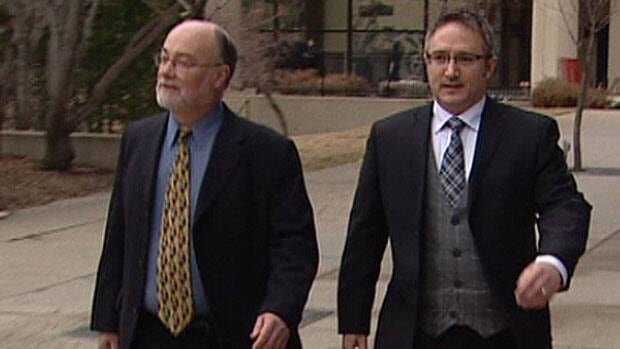 Brad Glenn (right) leaves court with his lawyer Dino McLaughlin Wednesday after pleading guilty to having sex with a student while in a position of trust.