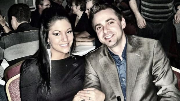 Emy Brochu, seen here with boyfriend Mathieu Fortin, died in a car crash on Jan. 18.