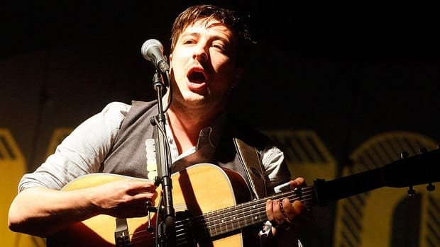 Mumford and Sons guitarist and lead vocalist Marcus Mumford, seen performing in California in 2012, says the band is bringing its Gentlemen of the Road tour to Ontario.
