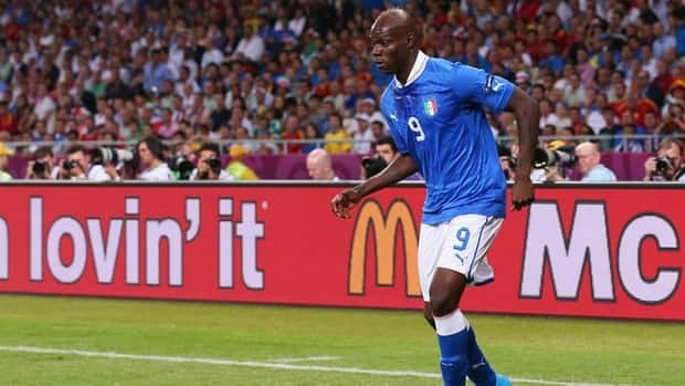 Italy's Mario Balotelli led Italy with three goals when the Azzurri reached the European Championship final in July.