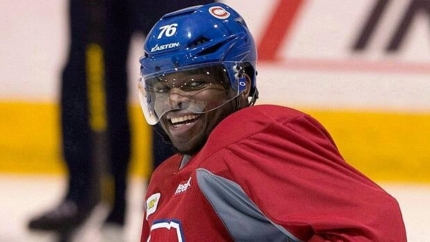 P.K. Subban, seen in practice with Montreal earlier this month, represented Canada as a junior player.