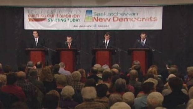 Saskatchewan NDP leadership candidates at the final debate before one is chosing for the job.