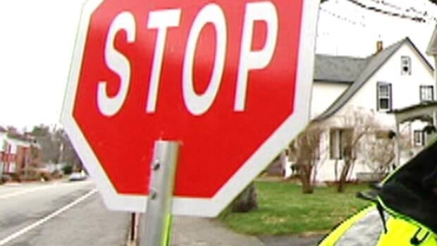 crossing guard stop sign