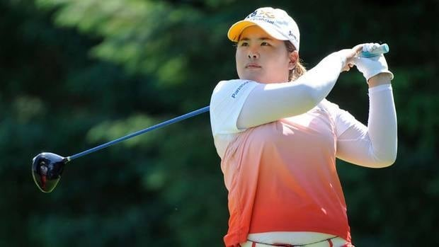 Inbee Park watches her drive on the third hole during the third round of the LPGA Championship on Sunday. Park would win the tournament on the third playoff hole.