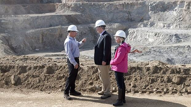 Prime Minister Stephen Harper and his wife Laureen visited Minto mine in Yukon last month and Harper touted the importance of natural resources to the Canadian economy during his trip in the North.