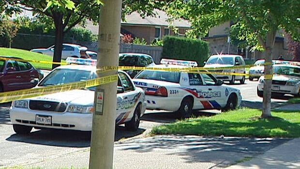 Homicide investigators are probing the death of a man found on an Etobicoke lawn on Sunday morning.