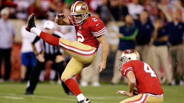 San Francisco 49ers place kicker David Akers, left, said he closed his Twitter account after receiving death threats late last month.
