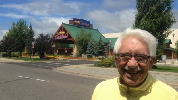 Sault Ste. Marie city councilor Steve Butland stands in front of the casino in that city.