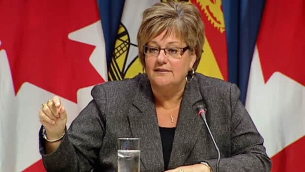 Health Minister Madeleine Dubé told a committee of MLAs on Thursday that sections of the Perth-Andover hospital may never re-open after last month's flood. (CBC)