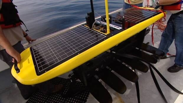 The Wave Glider spent nearly two months at sea and travelled more than 3,000 kilometres before being recovered off of Sambro, N.S. on Wednesday.