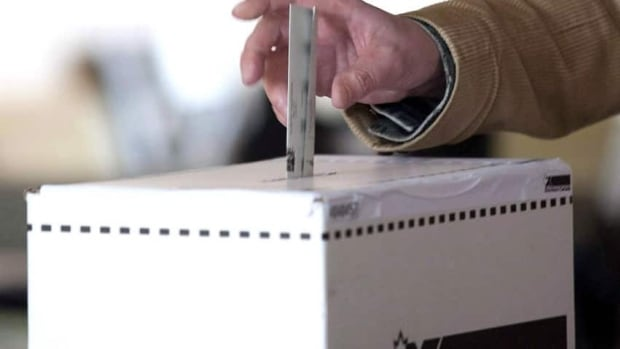 A Fredericton voter received a used ballot.