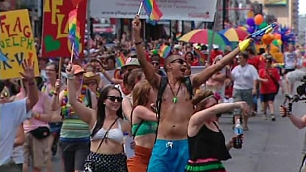 Toronto's 32nd annual Pride Parade began under sunny skies on Sunday afternoon.