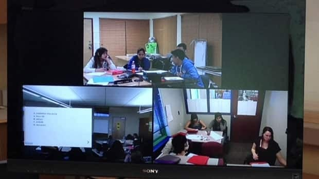 A pilot program is offering some high school courses through video conferencing for students in Tuktoyaktuk and Fort McPherson, N.W.T.
