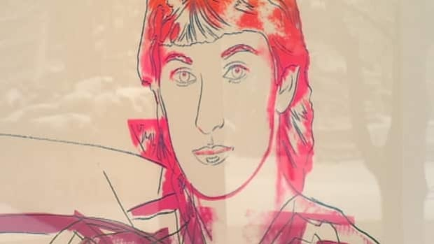 A portrait of Wayne Gretzky is part of a Warhol exhibit in Calgary.