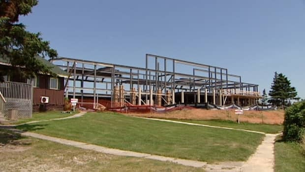 Construction is well underway to rebuild the historic White Point resort.