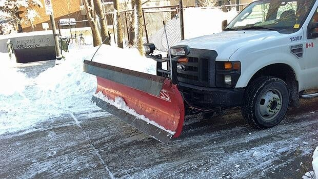 City crews were still cleaning up the mess from Friday's snowfall on Saturday morning.