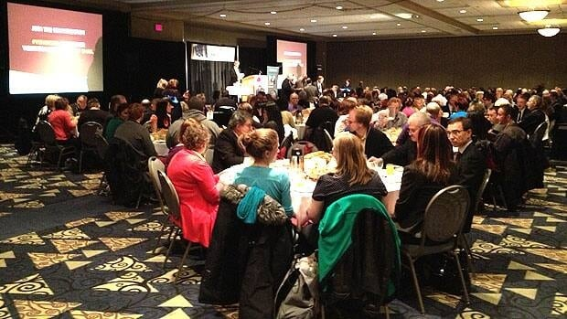 Siloam Missions hosts a breakfast at the Convention Centre on May 2.