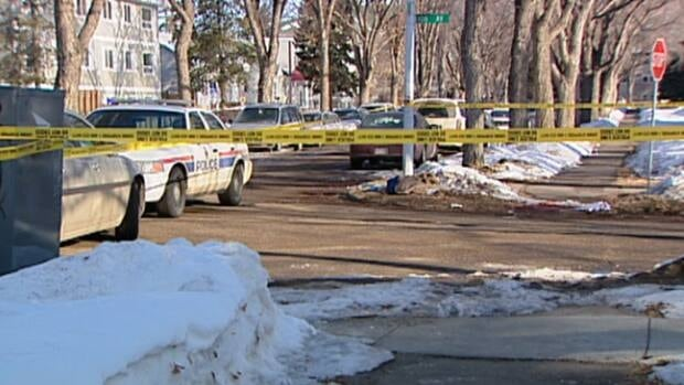 The shooting took place around 6:30 a.m. Saturday near the intersection of Street and 108th Avenue. CBC