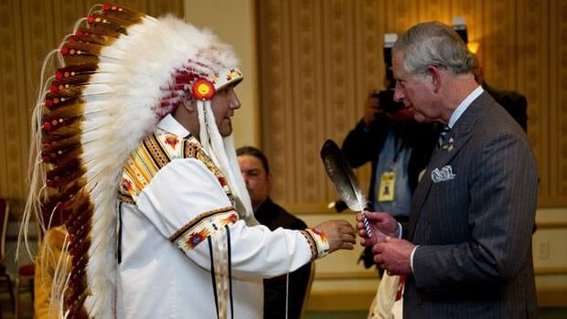 Prince Charles meets with native leaders in Toronto on Tuesday afternoon, as part of his four-day visit to Canada with his wife, Camilla, to mark the Queen's Diamond Jubilee.