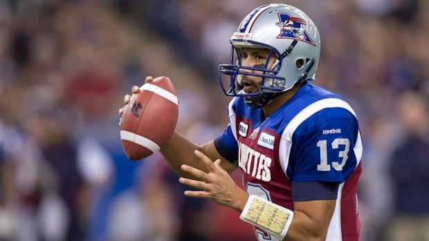 Montreal Alouettes quarterback Anthony Calvillo suffered a concussion in the second quarter of the their Week 8 loss to Saskatchewan on what looked like a routine hit from defensive end Ricky Foley.