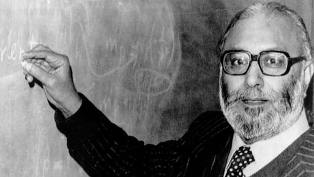 Abdus Salam, pictured in London on Oct. 15, 1979, soon after he heard the news that he was joint winner of the 1979 Nobel Prize for physics for his work on the on the so-called Standard Model of particle physics, which theorizes how fundamental forces govern the overall dynamics of the universe. The Higgs boson, a subatomic particle that physicists are believed to have discovered last week, is a key part of that theory, but while others who worked on the discovery were praised Salam was shunned in his own country.