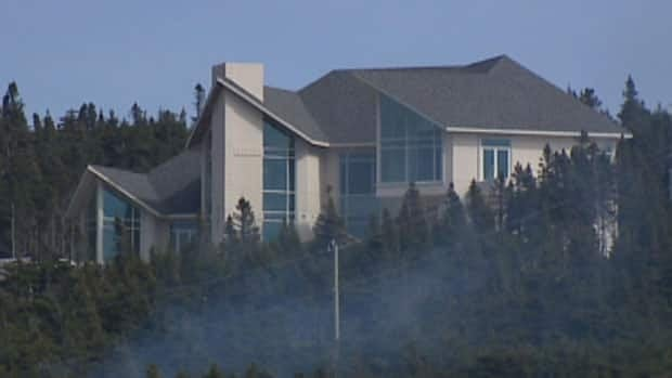 This house for former N.L. premier Danny Williams has not yet been finished.
