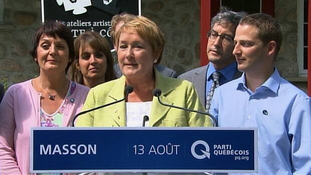 Parti Québecois Leader Pauline Marois wants to see more spaces in daycares by the time a PQ government would finish its first mandate.