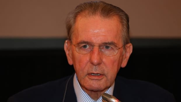 IOC president Jacques Rogge fields questions from reporters in Moscow on Friday.