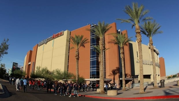 General view of Jobing.com Arena on October 18, 2011 in Glendale, Arizona.