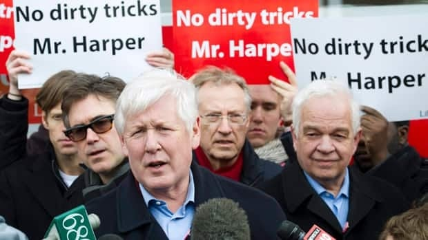 Interim Liberal leader Bob Rae, seen speaking with reporters in Toronto on Saturday, says his party knows of at least 27 ridings involved in the robocall controversy that has attracted the attention of Elections Canada.