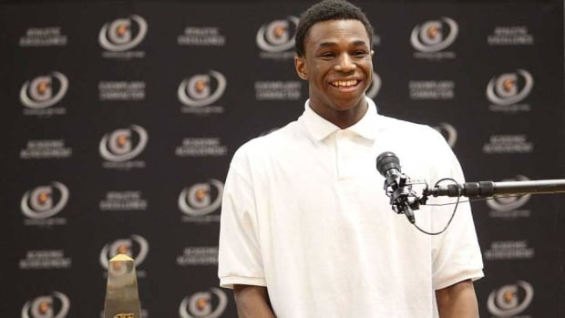 Andrew Wiggins won both the Naismith Trophy as the top U.S. high school player of the year and the Gatorade National Boys Basketball Player of the Year award.
