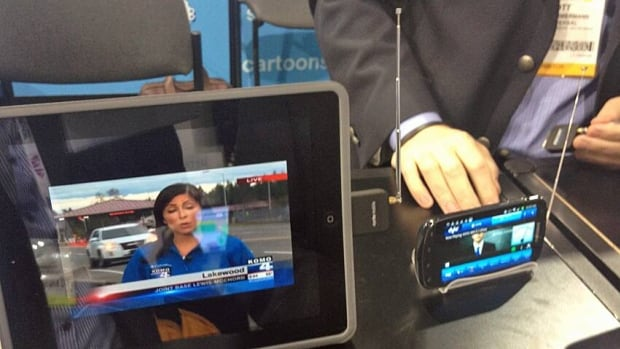 Mobile TV antenna attachments known as dongles extend out from phones and tablets before scanning the airwaves for signals and displaying whatever is detected on a local TV channel in real time at something less than high-definition quality.