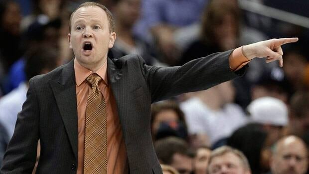 Detroit Pistons coach Lawrence Frank talks to his players during the first half of an NBA basketball game against the Charlotte Bobcats in Charlotte, N.C., Saturday, March 23, 2013. (AP Photo/Chuck Burton)