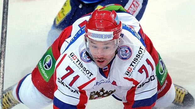 Ilya Kovalchuk, seen in a December game in the KHL, has over 12 years remaining on his NHL deal with New Jersey.