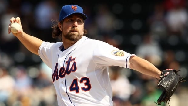 R.A. Dickey, 38, is the reigning National League Cy Young Award-winner. (File/Getty Images)
