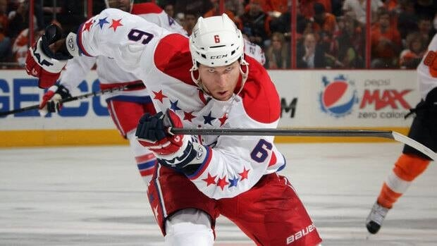 Dennis Wideman has 67 goals and 184 points in 535 career NHL games with St. Louis, Boston, Florida and Washington.