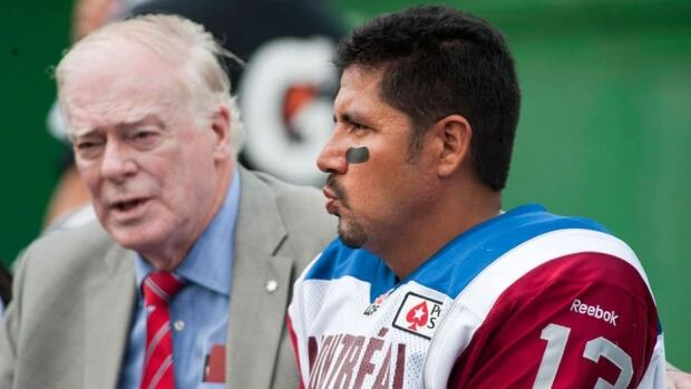 Montreal passer Anthony Calvillo, right, was relegated to the sidelines after suffering a head injury early in the second quarter of last Saturday's 24-21 loss at Saskatchewan.