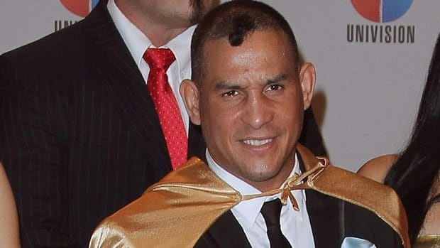 Hector Camacho, seen at an event in Miami earlier this year, was shot in the face on Tuesday night.